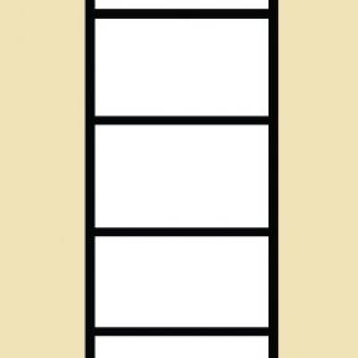 Levné Prosklené skříně a vitríny z lamina: Prosklený policový regál Amanda 2