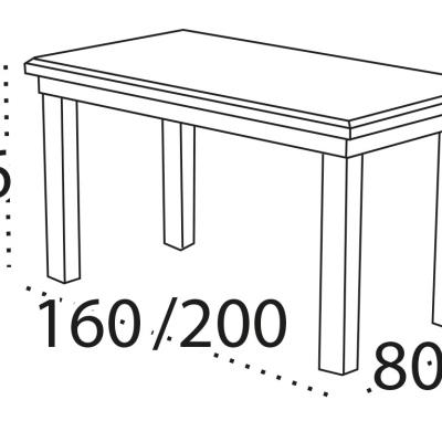 Levné Oválné jídelní stoly: Oválný jídelní stůl Christopher 1