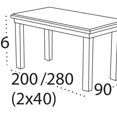 Rozkládací stůl Christopher 9 s dýhovanou jídelní deskou levné Rozk...