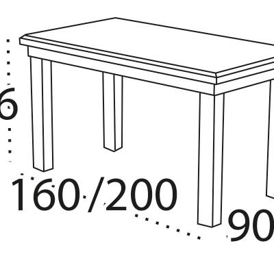 Levné Klasické stoly a stolky: Rozkládací jídelní stůl pro 8 osob Acca