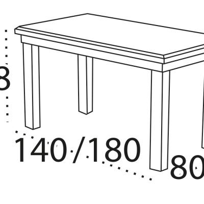 Levné Rozkládací jídelní stoly: Rozkládací jídelní stůl Brad s bukovou konstrukcí a odolnou deskou