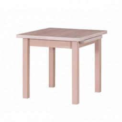 Levné Rozkládací jídelní stoly z masivu: Čtvercový jídelní stůl Cleo 7