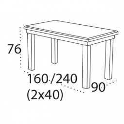 Levné Rozkládací jídelní stoly z masivu: Dřevěný kuchyňský stůl Christopher 7 z bukového masivu