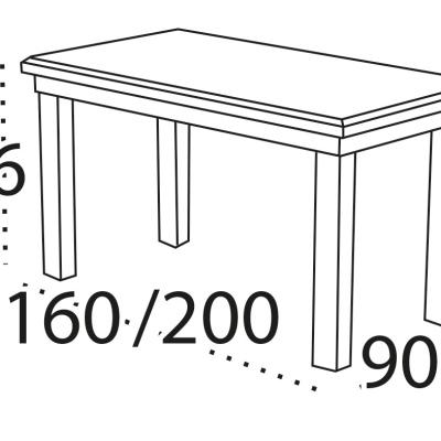 Levné Rozkládací jídelní stoly: Rozkládací jídelní stůl Celina z masivu buku