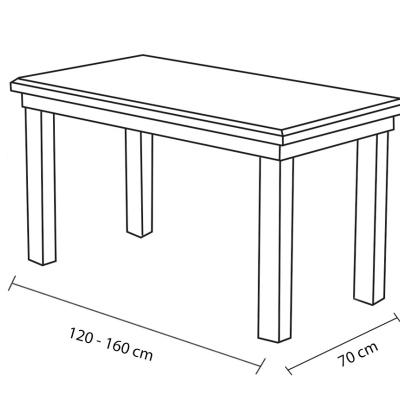 Levné Rozkládací jídelní stoly: Rozkládací jídelní stůl Cleo 10