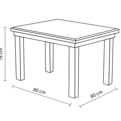 Levné Jídelní stoly z lamina: Jídelní stůl Cleo 9