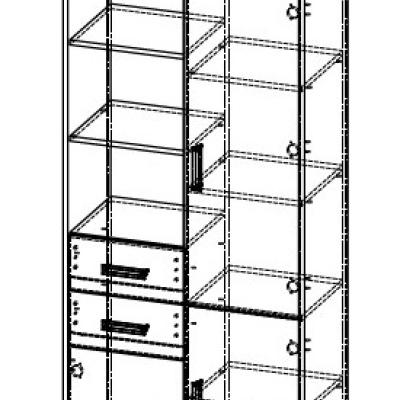 Levné Skříně a skříňky do dětského pokoje: Kombinovaná dětská skříň Barclay 3