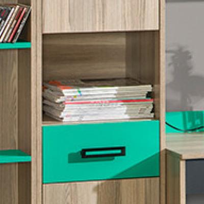 Levné Šatní skříně: Úzká kombinovaná skříň pro děti Barclay 5