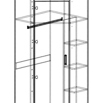 Levné Skříně a skříňky do dětského pokoje: Rohová šatní skříň pro školáky Barclay 6