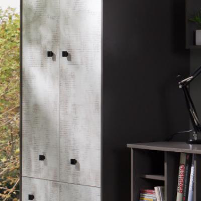 Levné Dětské skříně z lamina: Šatní skříň do studentského pokoje Cliff 1