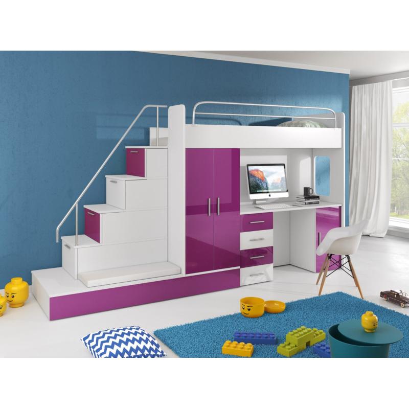 Levné Dětské patrové postele: Multifunkční dětská patrová postel Casey 3