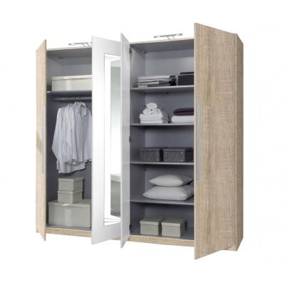 Kombinovaná šatní skříň do ložnice Aileen 6 levné Levné skříně a sk...