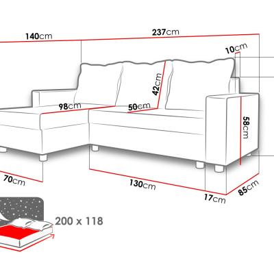 Levné Rohové sedací soupravy: Rohová sedací souprava Kamu