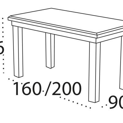 Levné Rozkládací jídelní stoly z lamina: Rozkládací jídelní stůl TONI