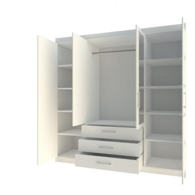 Levné Šatní skříně: Šatní skříň se zrcadlem Erram