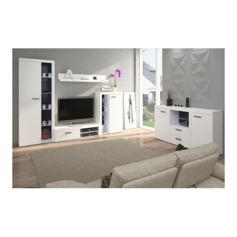 Levné Obývací sestavy: Obývací sestava bílá TERO