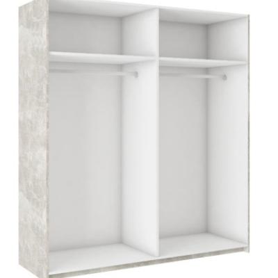 Levné Zrcadlové šatní skříně: Zrcadlová šatní skříň ALINA dekor beton