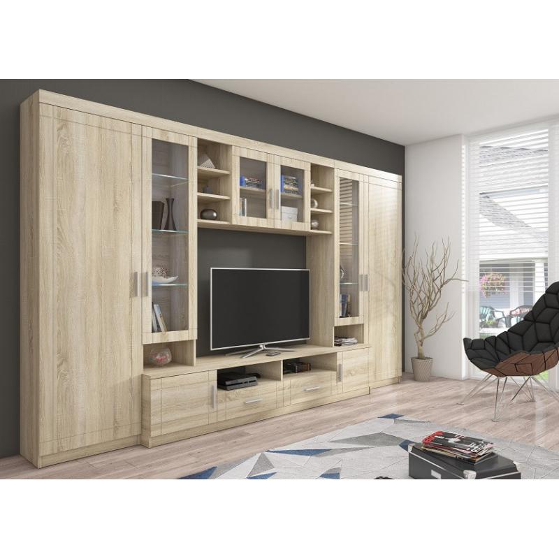Levné Obývací stěny: Klasická obývací stěna YTERO