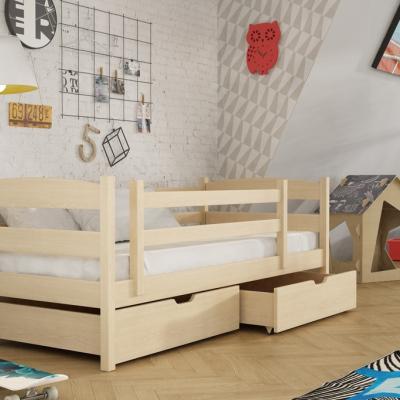 Levné Dětské jednolůžkové postele: Dětská postel se zábranou Alcine