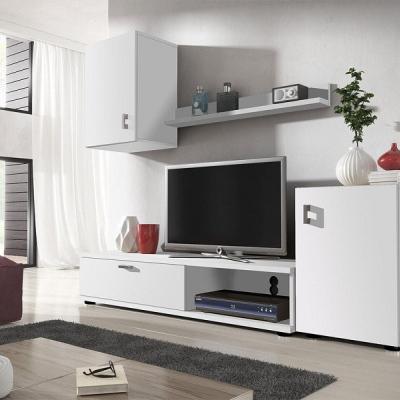 Levné Obývací stěny: Bílá obývací stěna Elza