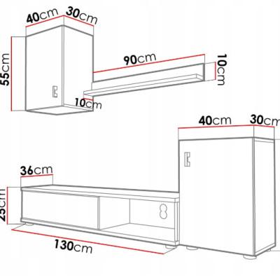 Levné Obývací stěny: Stěna do obýváku Elza II