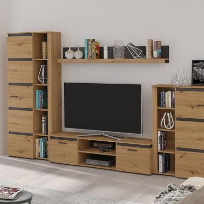 Levné Obývací stěny: Elegantní obývací stěna OWEN