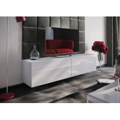 Levné Obývací stěny: Moderní bílá obývací stěna PERSEN