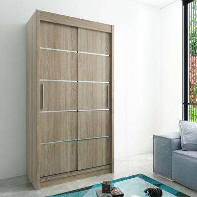 Levné Šatní skříně: Moderní šatní skříň Enni 120 v barvě dub sonoma