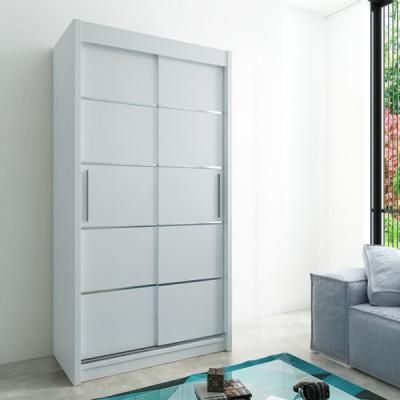 Levné Šatní skříně: Moderní šatní skříň Enni 120 v barvě bílé