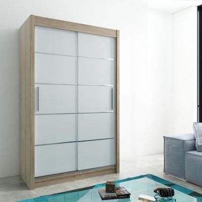 Levné Šatní skříně: Elegantní šatní skříň Enni 150 v barvě dub sonoma-bílá