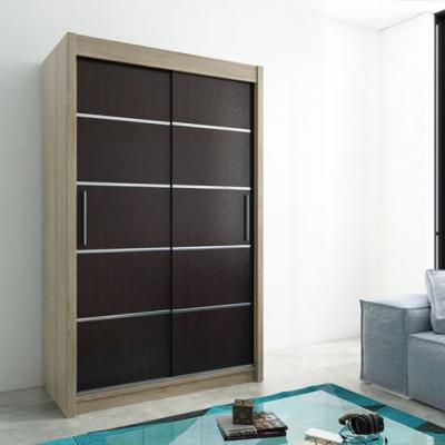 Levné Šatní skříně: Elegantní šatní skříň Enni 150 v barvě dub sonoma-wenge