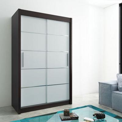 Levné Šatní skříně: Elegantní šatní skříň Enni 150 v barvě wenge-bílá