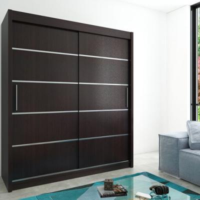 Levné Šatní skříně: Moderní šatní skříň s posuvnými dveřmi Enni 180 v barvě wenge