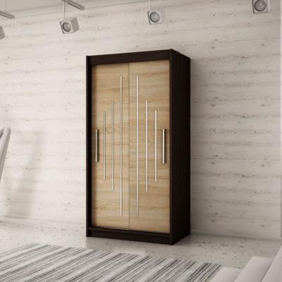Levné Šatní skříně: Krásná šatní skříň Maria 120 v barvě wenge-dub sonoma