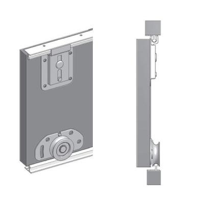 Levné Šatní skříně: Velká šatní skříň s posuvnými dveřmi a zrcadlem Anna 250 v barvě bílá-wenge