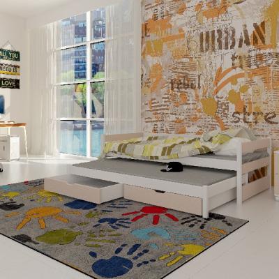 Levné Rozkládací postele s přistýlkou: Dětská postel s přistýlkou Midia béžová