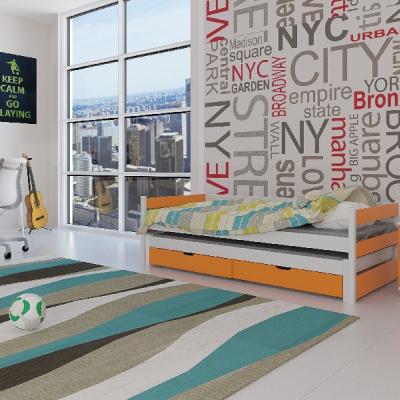 Levné Rozkládací postele s přistýlkou: Dětská postel s přistýlkou Midia - pomeranč