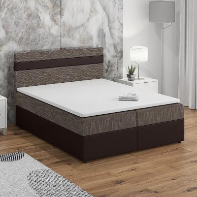 Levné Postele: Čalouněná postel s vysokým čelem SISI III.