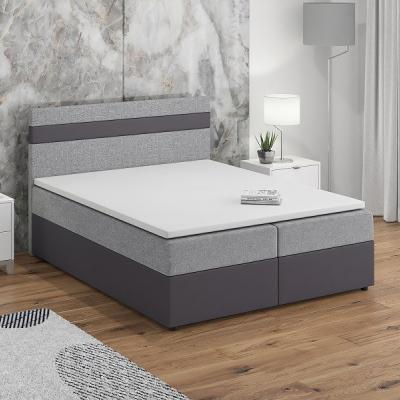 Levné Postele: Čalouněná postel s roštem a matrací SISI VII.