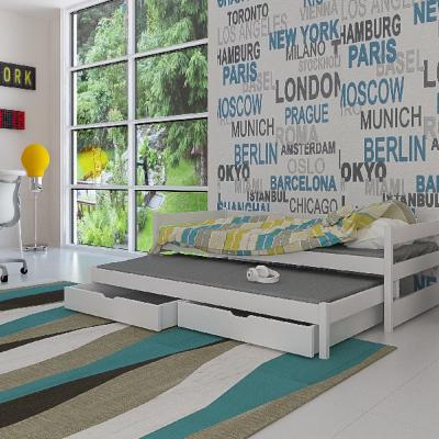 Levné Rozkládací postele s přistýlkou: Dětská postel s přistýlkou Midia - bílá