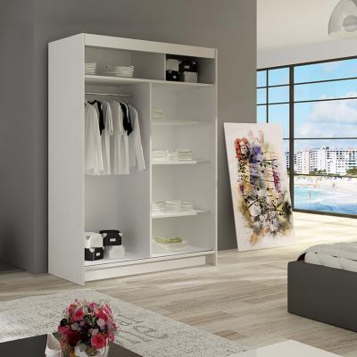 Levné Šatní skříně s posuvnými dveřmi: Prostorná šatní skříň Magda - sonoma