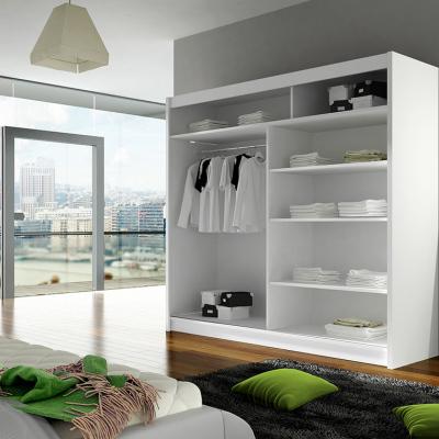 Levné Šatní skříně s posuvnými dveřmi: Prostorná šatní skříň Alfa - černý