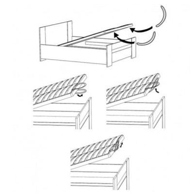 Levné Postele s úložným prostorem: Manželská postel s úložným prostorem Gaute