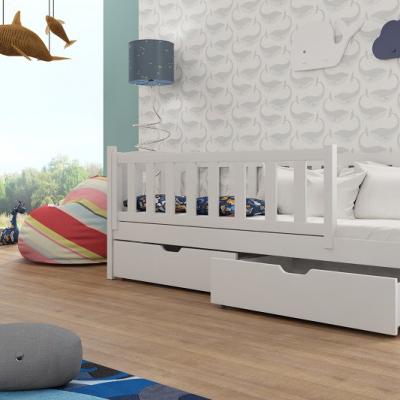 Levné Dětské jednolůžkové postele: Postel z masivu se zábranou Grace 90/190