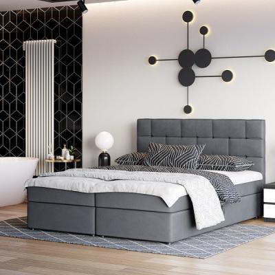 Levné Postele: Čalouněná postel s vysokým čelem WALL STREET III