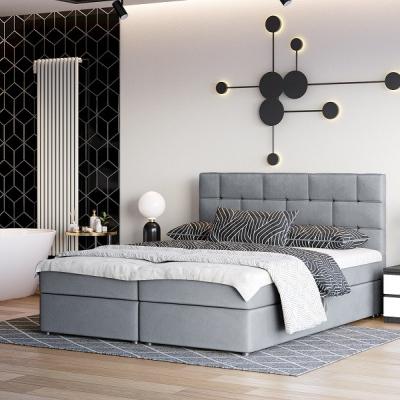 Levné Postele: Čalouněná kontinentální postel WALL STREET X