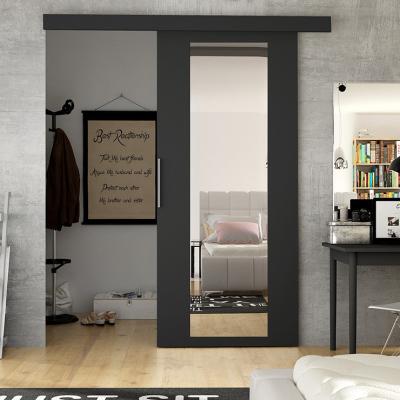 Levné Posuvné dveře: Posuvné dveře na stěnu ILAS IV. černé
