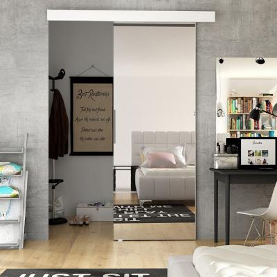Levné Posuvné dveře: Interiérové posuvné dveře se zrcadlem ILAS II. bílé 90