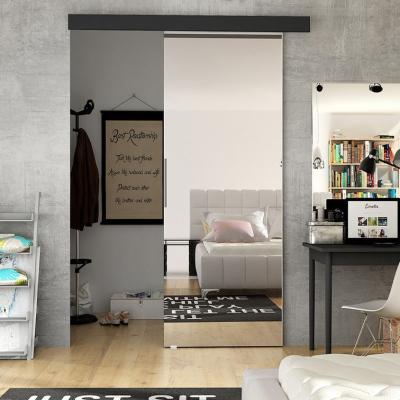 Levné Posuvné dveře: Interiérové posuvné dveře se zrcadlem ILAS II. černé 90
