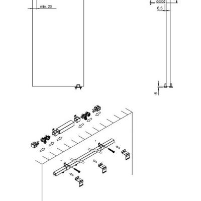Levné Posuvné dveře: Posuvné dveře ILAS III. bílé 90